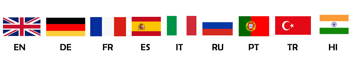 ภาษาที่รองรับในCryptoTab